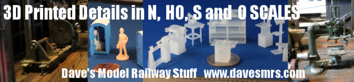 My adventures in 3D Printing and Model Railroading
